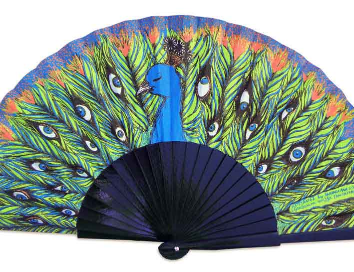 Peacock fan image